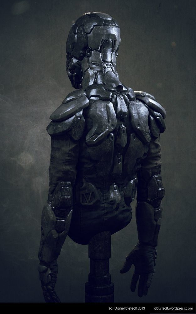 rhubarbes:  ArtStation - Sci-fi armor front, by Daniel BystedtMore robots here.