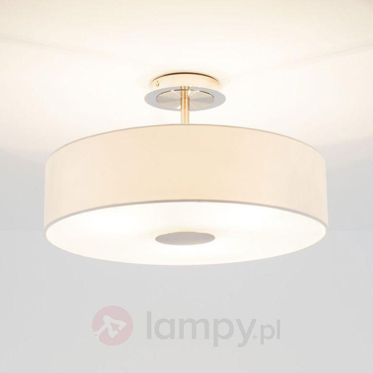 Ponadczasowa lampa sufitowa JOSIA z białej tkaniny 9620048