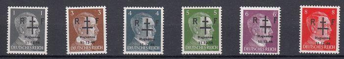 Frankrijk 1944 - bevrijding van Hagueneau-Mayer no. 1 tot en met 6 ondertekend kalveren  EUR 80.00  Meer informatie