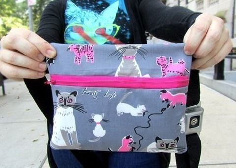 Sew your own fanny pack.  From Cut out and Keep tutorials.