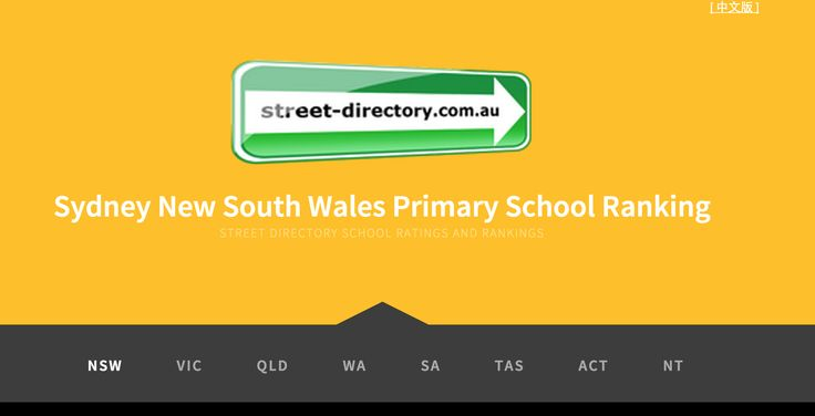 Sydney New South Wales Primary School Rankings