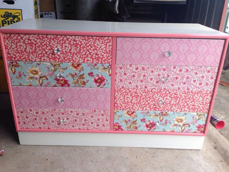 Fabric drawer fronts