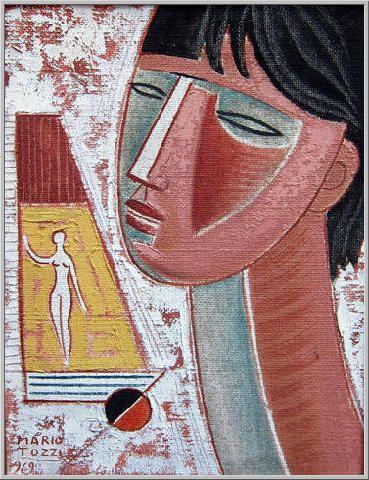 Mario Tozzi 1969: Figura di Donna. Olio su Tela cm.(35x27) - Collezione Privata Alessandria - Archivio n.926 - Catalogo Dipinti n.69/97.