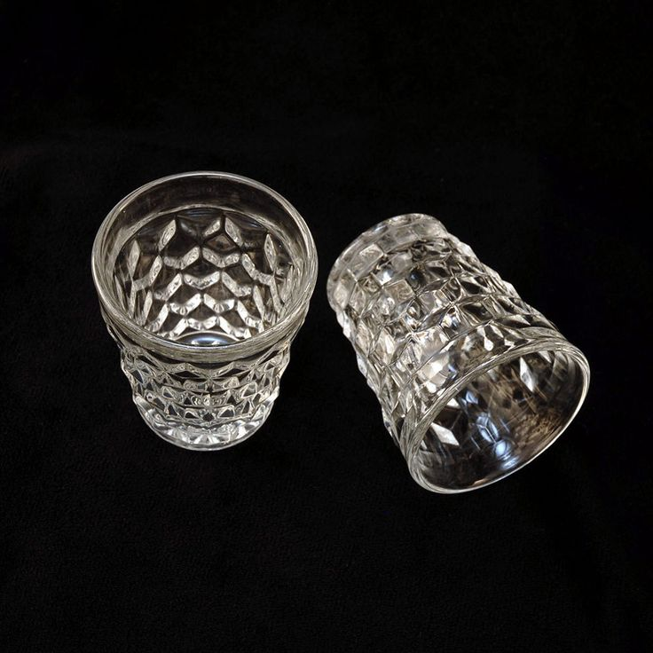 Fostoria American Clear Shot Glasses, Set of Two, Vintage Elegant Glass Made From 1915 Through 1982, Pressed Pattern Glass by VintageEntertaining on Etsy