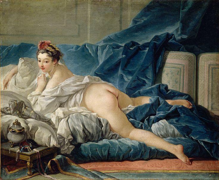L'odalisque   Original work by     Boucher, François Original height     53.00 cm Original width     64.00 cm Period     18e siècle, période moderne (Europe occidentale) Technic     huile sur toile