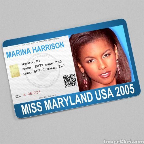 Marina Harrison Miss Maryland USA 2005 card