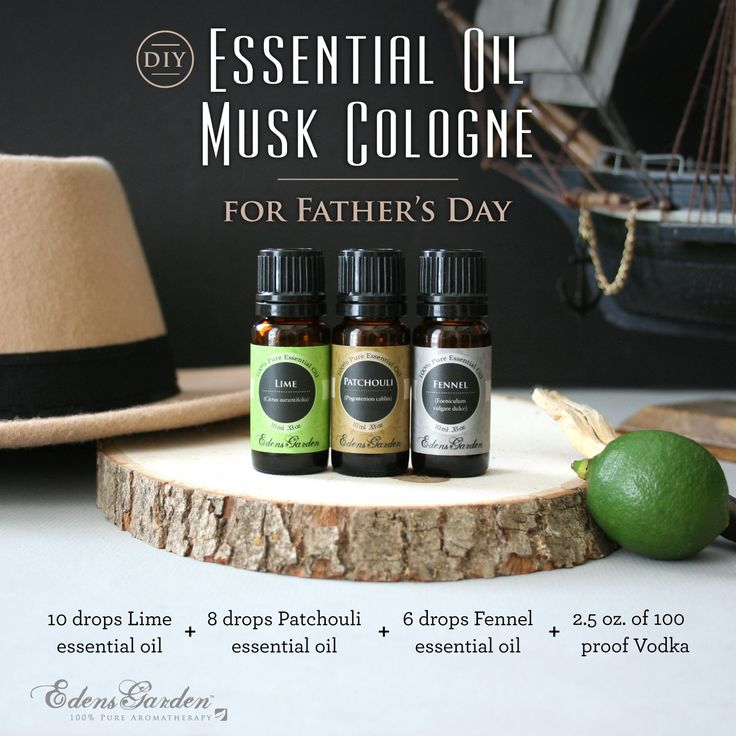 Father's Day is almost here and we have a simply awesome DIY Essential Oil Cologne perfect for dad. All you need is our Lime, Fennel, and Patchouli essential oi