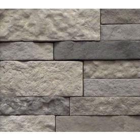 "AirStone Spring Creek DryStack Faux Stone Veneer Flat ~ $50 for 64 pcs.... 2 & 4"" pcs.. Don't know coverage area??? doesn't state :o/"
