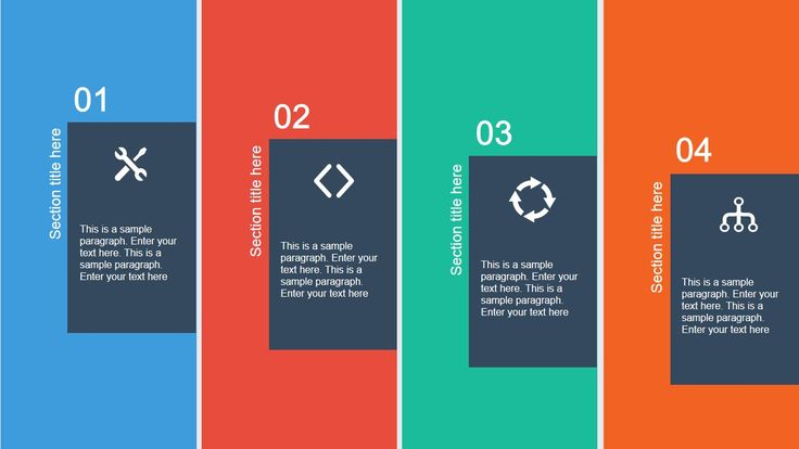 Flat Layout Template for PowerPoint is a presentation design containing useful slide layouts with flat style colors.