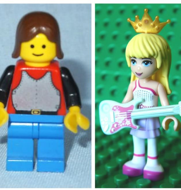 """7 80s Characters From My Childhood Then And Now – What Happened? 5. Lego Goes From Blockhead Brick to Brazen Babe: Yes, the one on the left is supposed to be a girl. I know, she looks more like Pat from SNL, but look how she's grown. In 2012 Lego Friends was introduced to interest girls in playing with the """"boyish"""" blocks. Wasn't the fun of Legos the boxy charm? Is nothing sacred? #kids #toys"""