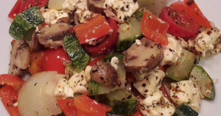 Mediteranes Gemüse mit Schafskäse