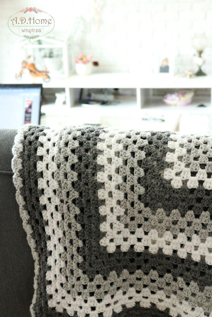 kocyk, pled wełniany, ręcznie robiony na szydełku, crochet, love crochet, hand made, pracownia A.D>Home