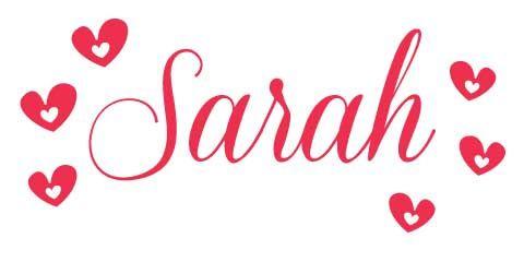 Sarah name sarah with hearts the name sarah pinterest names heart