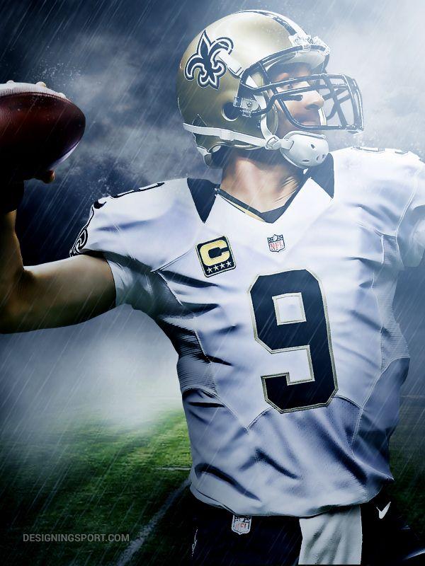 Drew Brees, New Orleans Saints @ designingsport.com