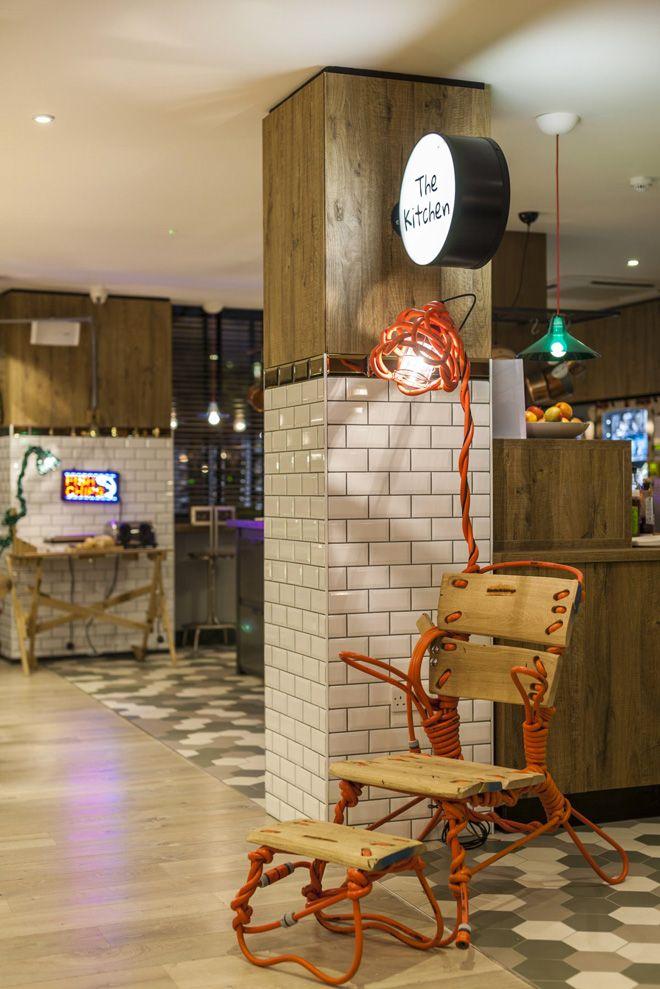 Restaurant at the Qbic Hotel London designed by Blacksheep
