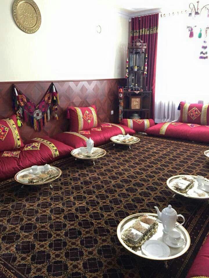 Afghan decorecion Living room ideas Room, Room set
