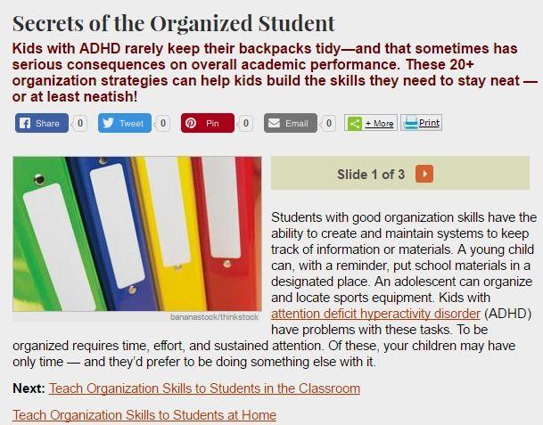adult adhd organizational skills