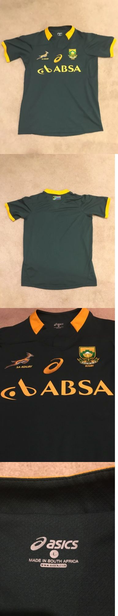 Rugby 21563: Asics South Africa Springboks 2014 2015 Rugby Jersey, Size L -> BUY IT NOW ONLY: $35.99 on eBay!