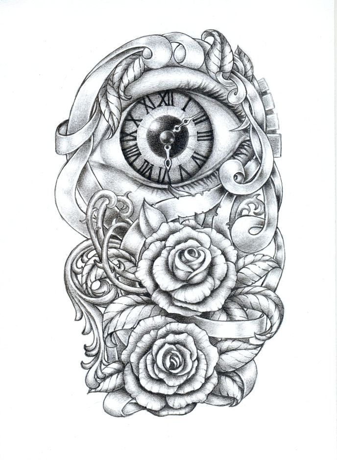 Sleeve Tattoo Drawings: Custom Tattoo Designer RadeCupo