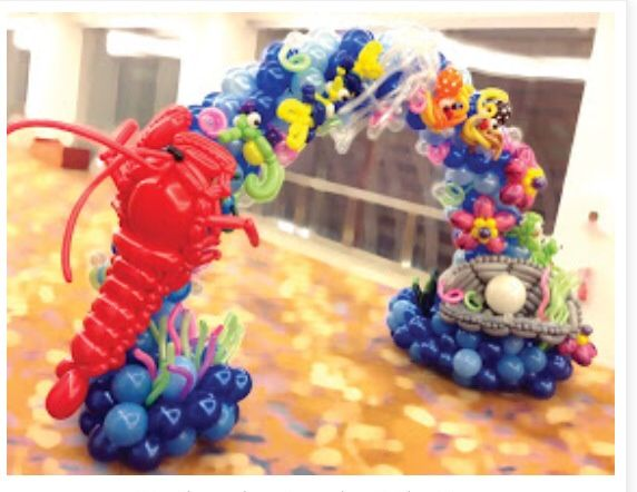 Under the sea balloon arch #under the sea #balloon #decor #arch #decoration  #balloon #sculpture #twist #art #character