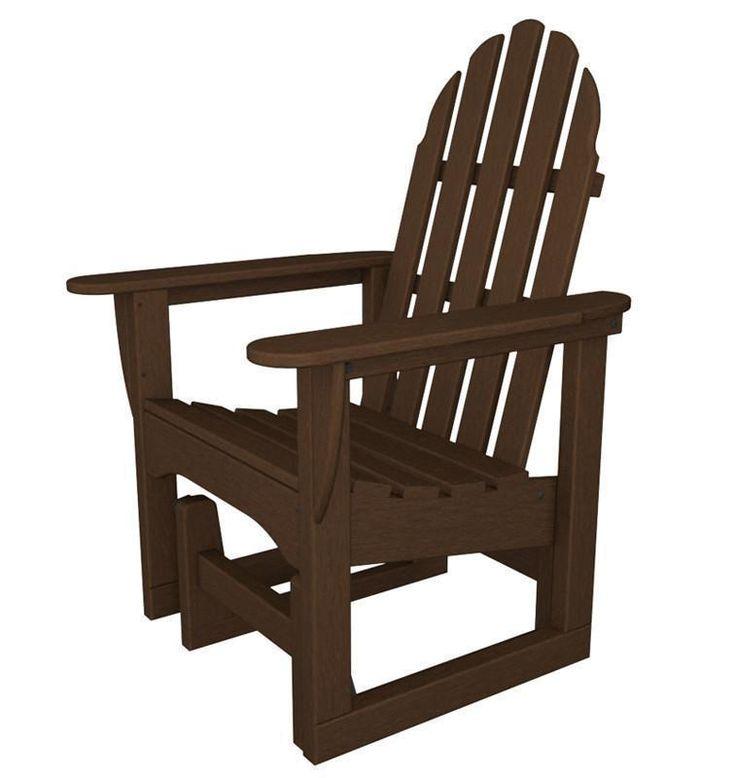 Polywood ADSGL-1MA Classic Adirondack Glider Chair in Mahogany