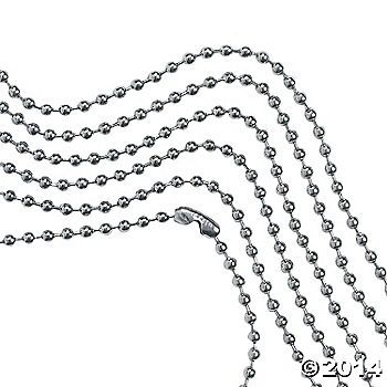 Bead Chain Necklaces for brag tags
