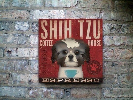 Shih Tzu Coffee Company small dog roast original by geministudio, $74.00