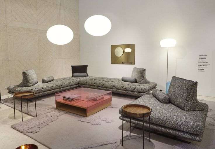 Prado was launched in 2015. It has been a surprising hit, showing that Ligne Roset is right to take risks. This year we added a stool in 3 sizes. This simple addition suddenly opens up the sofa to corner seating options. Already on show at Ligne Roset Westend, though not in this fab ethnic-op art fabric! That will not be until Autumn 2016