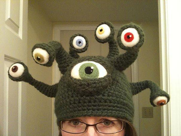 смешные шапки, вязаные шапки крючком