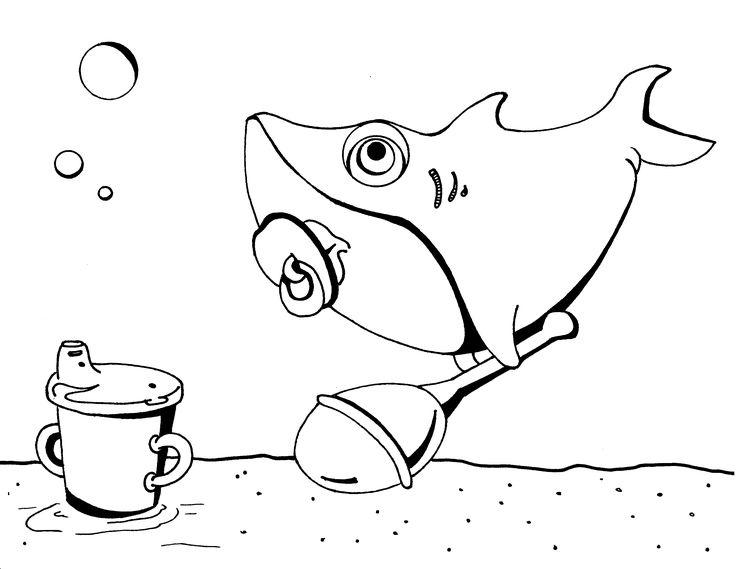 baby shark coloring page  bebê tubarão desenhos para