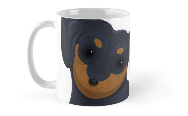 Cartoon Dachsund Coffee Mugs by AnMGoug on Redbubble. #dog #dachshund #mug #coffee #kitchen