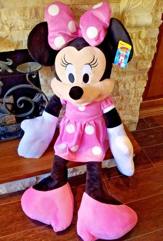 Christmas Minnie Mouse Plush.Disney Junior Minnie Mouse Plush Stuffed Animal Clubhouse