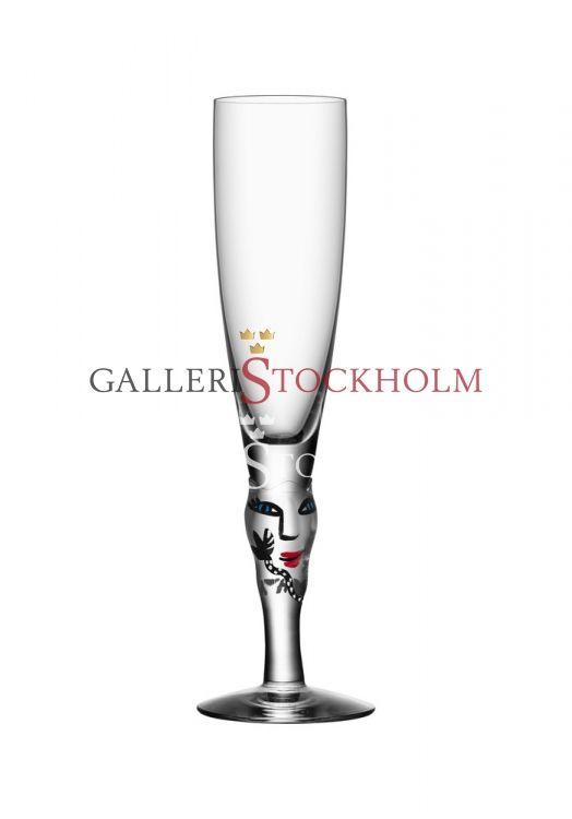 Ulrika Hydman-Vallien - Glaskonst - Open minds champagneglas ofärgad Beställ här! Klicka på bilden.