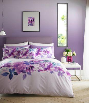 Lipsy Multicoloured 'Translucent Bloom' bedding set | Debenhams