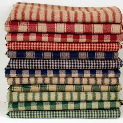 Gingham fabric used in primitive country decor