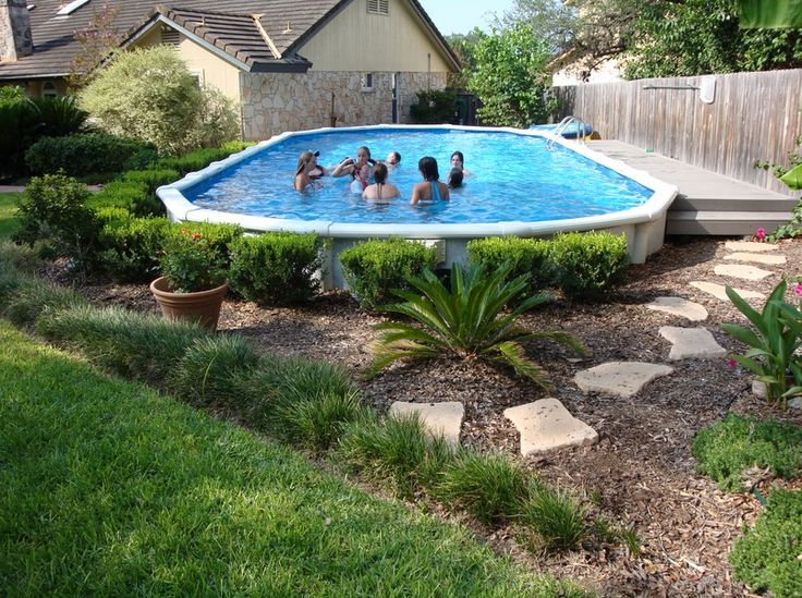 Lovely Above Ground Pools Designs Landscaping