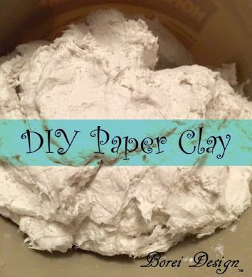 Easy, inexpensive recipe and directions on how to make your own paper clay for…