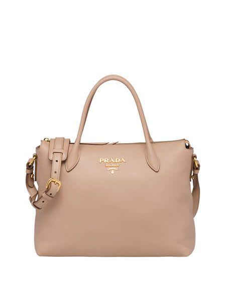 1407368d02c7 Shop PRADA Daino Medium Leather Tote Bag