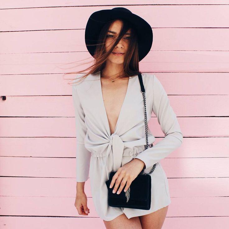 Long sleeve nunu romper and Zara's feather bag - summer outfit #nunugirl