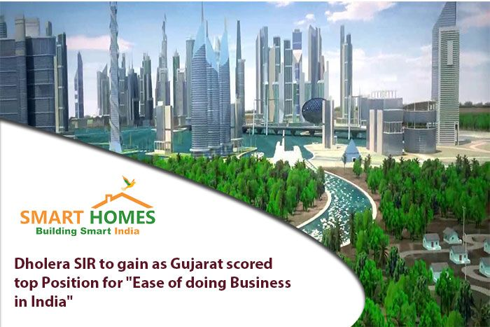 "Dholera SIR to gain as Gujarat Scored top Position for ""Ease of doing Business in India"". #‎Dholera‬ ‪#‎DholeraSIR‬ ‪#‎DholeraSmartCity‬ ‪#‎Gujarat‬"