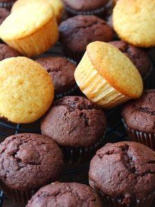 オイルで作るプチ・カップケーキ。チョコ。