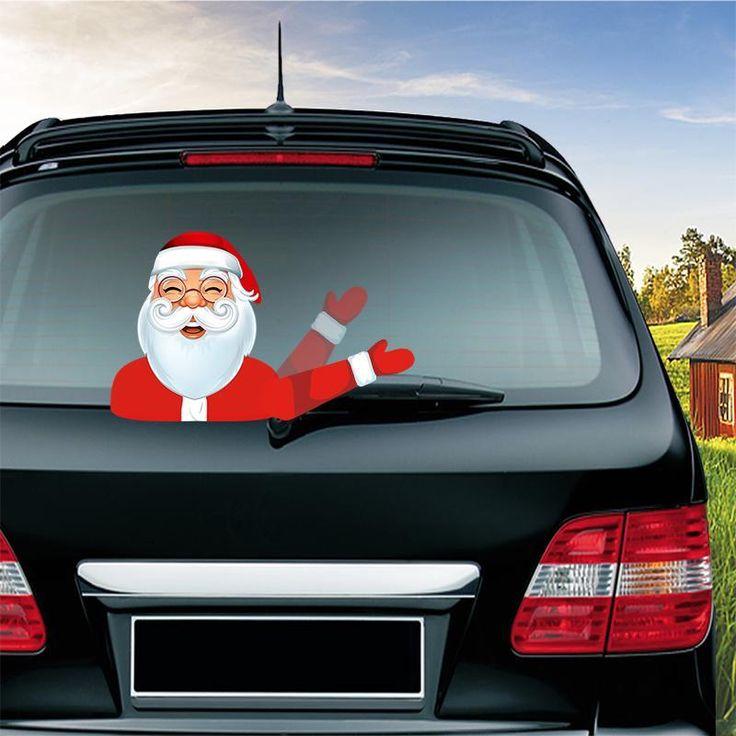 Weihnachten Halloween Auto Heckscheibe Dekoration Aufkleber Aufkleber  – Bestellen ?