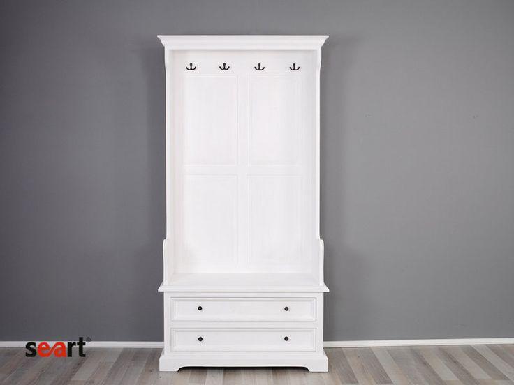 garderoba, biały wieszak, biała garderoba, szafka na buty ...