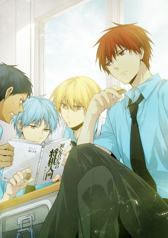 All three of them verses Akashi? Aomine looks like he doesn't get it though.