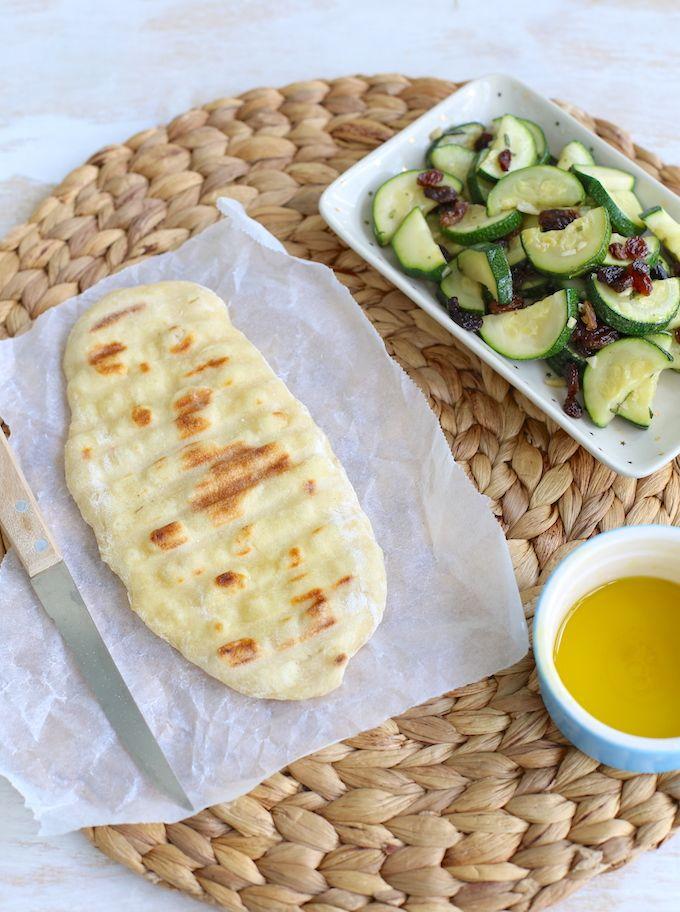 Flatbread van bakmeel en yoghurt - Lekker en Simpel