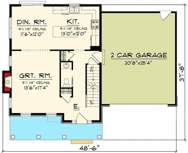 Plan 89906AH: 2 Story Home With Large Front Porch