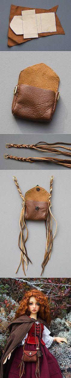 ~ Hacer una bolsa de cuero para su muñeca ~