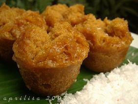 kue mangkok - indonesian brown sugar cupcakes