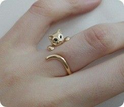Meow - cat ring, I want this!