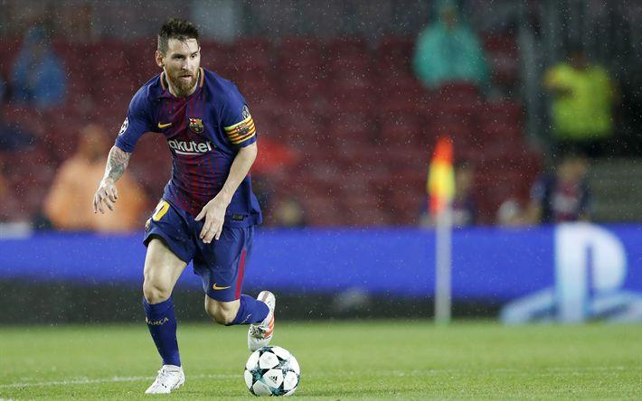 Download wallpapers Lionel Messi, 4K, Argentinian footballer, Barcelona, Catalonia, Spain, football, La Liga, Leo Messi